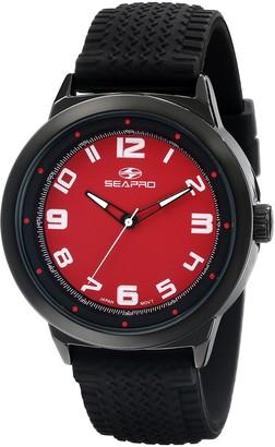Seapro Men's SP3112 Wave Analog Display Quartz Black Watch
