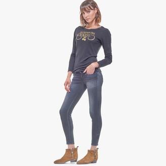 Le Temps Des Cerises Betty Slim Fit Jeans with Zipped Hem