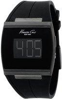 Kenneth Cole New York Kenneth Cole Men's Digital KC1637 Silicone Quartz Watch with Dial