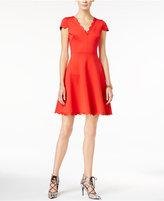 Betsey Johnson Scalloped Fit & Flare Dress