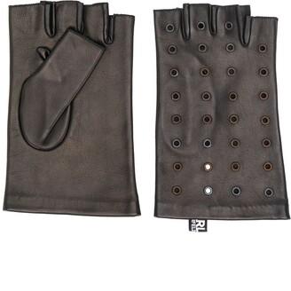 Karl Lagerfeld Paris Eyelet Applique Gloves