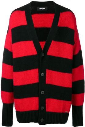 DSQUARED2 Horizontal Stripes Cardigan