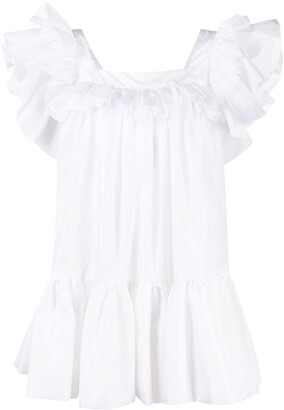 Loulou Ruffled Tiered Mini Dress