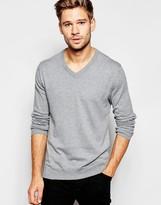 Esprit Cashmere Mix V Neck Jumper - Grey