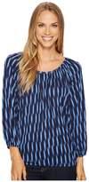 MICHAEL Michael Kors Sari Peasant Top Women's Clothing