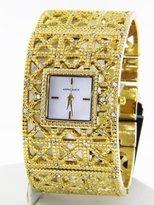 Anne Klein Women's 10/9410MPGB MOP Dial Gold-tone Cuff Bracelet Quartz Watch