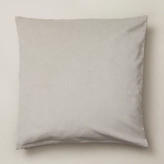 """Oui Velvet Pillow Cover Pigeon Grey 20"""" X 20"""""""