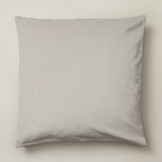 "Oui Velvet Pillow Cover Pigeon Grey 20"" X 20"""