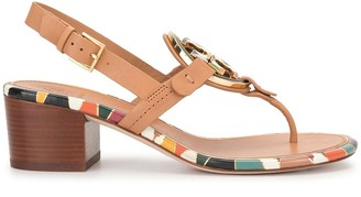 Tory Burch Logo Patch Sandals