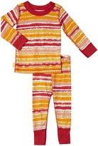 Masala Painterly Stripes PJ Set (Baby) - Red-12-18 Months
