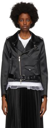 Noir Kei Ninomiya Black Satin Moto Jacket