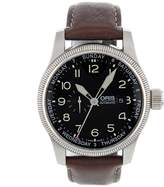 Oris Men's Big Crown Automatic Pointer Day Brown Leather