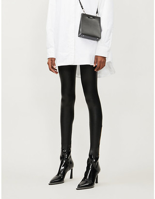 Commando Zipped faux leather leggings