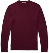 Burberry Elbow-patch Cotton And Cashmere-blend Sweater