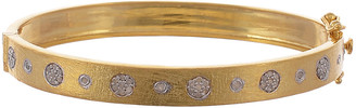 Forever Creations Usa Inc. Forever Creations Gold Over Silver 0.40 Ct. Tw. Diamond Bangle