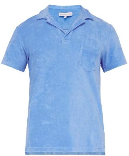 Orlebar Brown Cotton Terry Polo Shirt - Mens - Blue