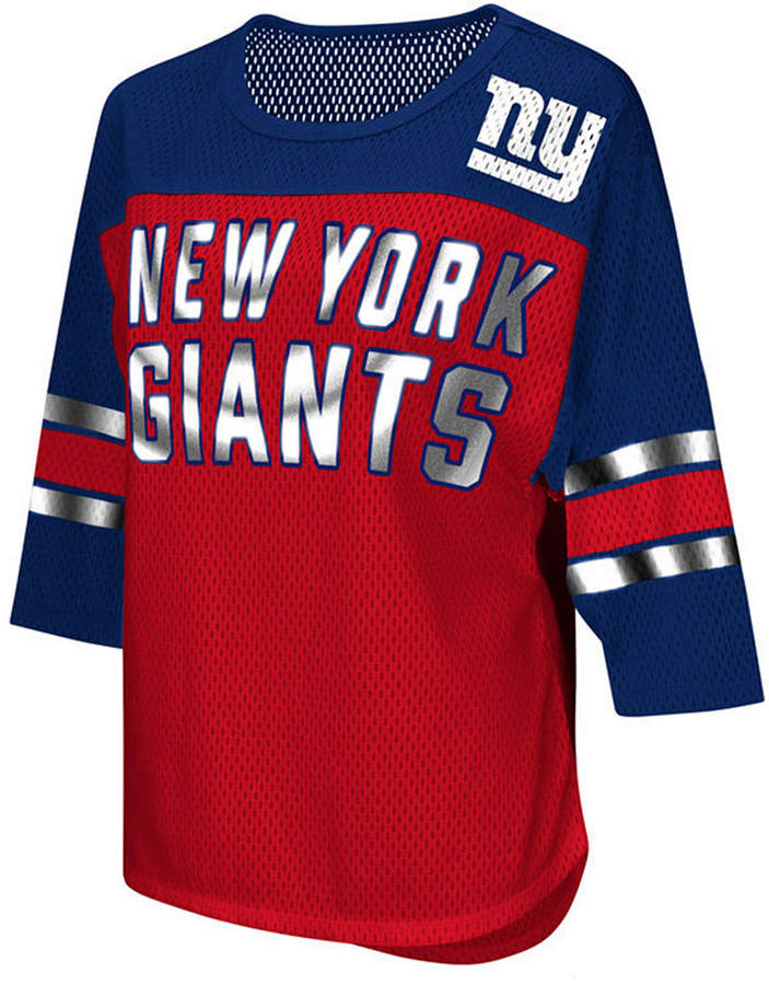 best loved 69019 58d42 G-iii Sports Women New York Giants Team Sleeve Stripe T-Shirt
