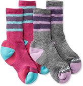 L.L. Bean Kids' SmartWool Hiking Socks, Stripe Two-Pack