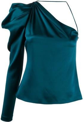 Cushnie Asymmetric Silk Top