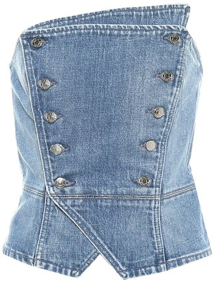 GRLFRND Florence bustier denim top