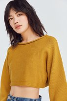 Silence & Noise Silence + Noise Roll-Neck Cropped Sweater