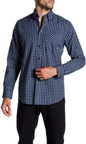 Ben Sherman Long Sleeve Windowpane Print Woven Shirt