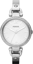 Fossil ES3225 Georgia silver-toned bracelet watch