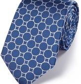 Charles Tyrwhitt Royal and white silk circle link classic tie