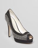Caparros Peep Toe Platform Evening Pumps - Inspire High Heel