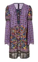 Anna Sui Paisley Fringe Border Dress