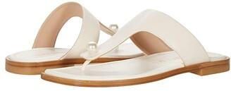 Stuart Weitzman Goldie Flat Sandal (Periwinkle) Women's Shoes