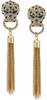Thalia Sodi Gold-Tone Crystal Leopard Tassel Linear Drop Earrings, Only at Macy's