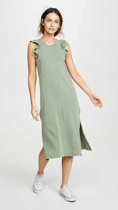 Sundry Ruffled Midi Dress