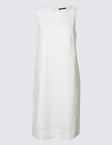 M&S Collection Linen Blend Scallop Neck Tunic Dress