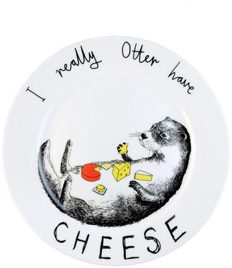 Jimbob Art Otter Have Cheese Side Plate
