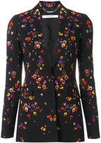 Givenchy night pansies print blazer