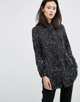 Influence Cosmic Print Shirt Dress