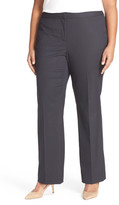 Sejour Pinstripe Stretch Flare Leg Suit Pants (Plus Size)