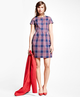 Brooks Brothers Cotton Blend Plaid Dress