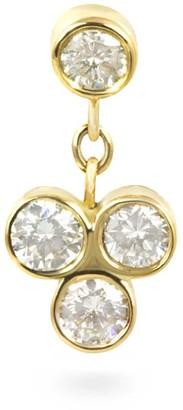 Lena Cohen Fine Jewellery 18k Yellow Gold Dangling Trefoil Diamond Stud