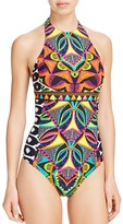 Trina Turk Africana High Neck One Piece Swimsuit