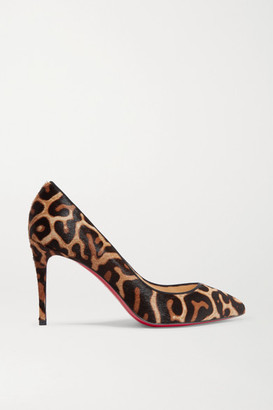 Christian Louboutin Pigalle Follies 85 Leopard-print Calf Hair Pumps - Leopard print