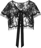 Oscar de la Renta Cropped Lace Jacket - Black
