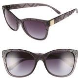 Burberry Women's 56Mm Retro Sunglasses - Matte Black