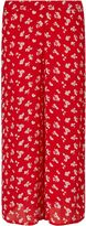 Miss Selfridge Red Print Cropped Trouser