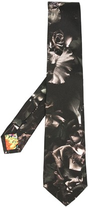 Paul Smith Floral Print Silk Tie