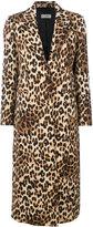 Alberto Biani leopard print coat - women - Viscose/Wool - 40