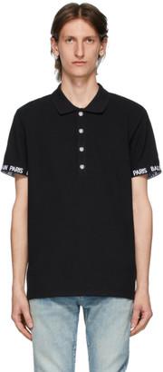 Balmain Black Paris Polo