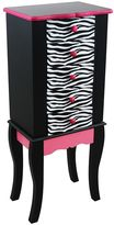 Teamson Kids Fashion Prints Black Zebra Jewelry Armoire
