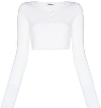 Danielle Guizio Cropped Cotton Cardigan
